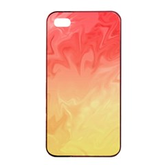 Ombre Orange Yellow Apple Iphone 4/4s Seamless Case (black) by BrightVibesDesign
