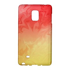 Ombre Orange Yellow Galaxy Note Edge by BrightVibesDesign