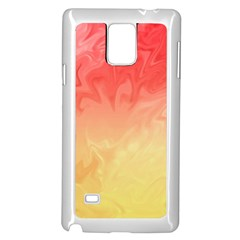 Ombre Orange Yellow Samsung Galaxy Note 4 Case (white) by BrightVibesDesign