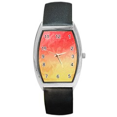 Ombre Orange Yellow Barrel Style Metal Watch by BrightVibesDesign