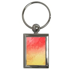 Ombre Orange Yellow Key Chains (Rectangle)  by BrightVibesDesign