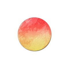 Ombre Orange Yellow Golf Ball Marker by BrightVibesDesign