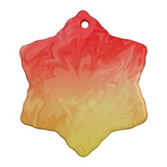 Ombre Orange Yellow Snowflake Ornament (2 Side) by BrightVibesDesign