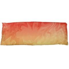 Ombre Orange Yellow Body Pillow Case (dakimakura) by BrightVibesDesign