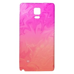 Ombre Pink Orange Galaxy Note 4 Back Case by BrightVibesDesign