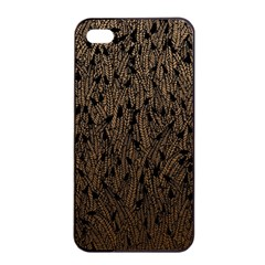 Brown Ombre Feather Pattern, Black, Apple Iphone 4/4s Seamless Case (black) by Zandiepants