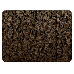 Brown Ombre Feather Pattern, Black, Samsung Galaxy Tab 7  P1000 Flip Case by Zandiepants