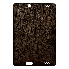 Brown Ombre feather pattern, black, Amazon Kindle Fire HD (2013) Hardshell Case by Zandiepants