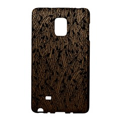 Brown Ombre Feather Pattern, Black, Samsung Galaxy Note Edge Hardshell Case by Zandiepants