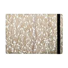 Brown Ombre Feather Pattern, White, Apple Ipad Mini Flip Case by Zandiepants