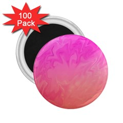 Ombre Pink Orange 2.25  Magnets (100 pack)  by BrightVibesDesign