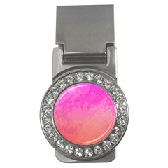 Ombre Pink Orange Money Clips (CZ)  by BrightVibesDesign
