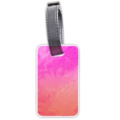 Ombre Pink Orange Luggage Tags (One Side)  by BrightVibesDesign