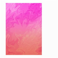 Ombre Pink Orange Small Garden Flag (two Sides) by BrightVibesDesign