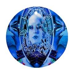 Clockwork Blue Ornament (round)  by icarusismartdesigns