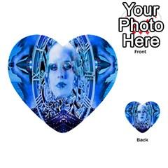 Clockwork Blue Multi Purpose Cards (heart)  by icarusismartdesigns