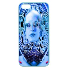 Clockwork Blue Apple Seamless Iphone 5 Case (color) by icarusismartdesigns