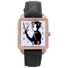 I m Not Finished Rose Gold Leather Watch  by lvbart