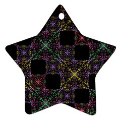 Ornate Boho Patchwork Star Ornament (two Sides)  by dflcprints