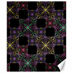 Ornate Boho Patchwork Canvas 8  X 10  by dflcprints