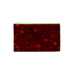 Glitter Hearts Cosmetic Bag (XS) by TRENDYcouture