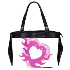 Hot Pink Love Office Handbags (2 Sides)  by TRENDYcouture