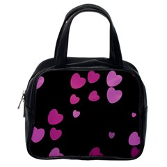 Pink Hearts Classic Handbags (One Side) by TRENDYcouture