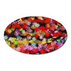Colorful Brush Strokes                                             magnet (oval) by LalyLauraFLM