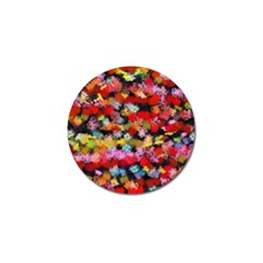 Colorful Brush Strokes                                             golf Ball Marker (4 Pack) by LalyLauraFLM