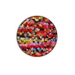 Colorful Brush Strokes                                             			hat Clip Ball Marker by LalyLauraFLM
