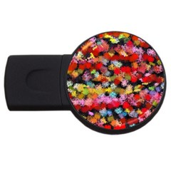 Colorful Brush Strokes                                             			usb Flash Drive Round (4 Gb) by LalyLauraFLM