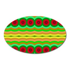 Circles And Waves                                              magnet (oval) by LalyLauraFLM