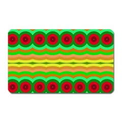 Circles And Waves                                              magnet (rectangular) by LalyLauraFLM