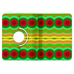 Circles And Waves                                              			kindle Fire Hdx Flip 360 Case by LalyLauraFLM