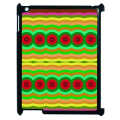 Circles And Waves                                              			apple Ipad 2 Case (black) by LalyLauraFLM
