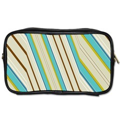 Bent Stripes                                               Toiletries Bag (two Sides) by LalyLauraFLM