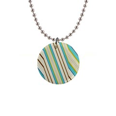 Bent Stripes                                               			1  Button Necklace by LalyLauraFLM