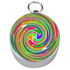 Colorful Whirlpool Watercolors                                                Silver Compass by LalyLauraFLM