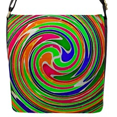 Colorful Whirlpool Watercolors                                                flap Closure Messenger Bag (s) by LalyLauraFLM