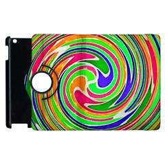 Colorful Whirlpool Watercolors                                                			apple Ipad 2 Flip 360 Case by LalyLauraFLM