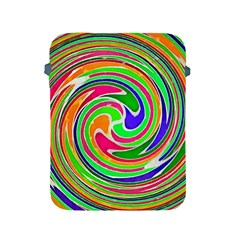 Colorful Whirlpool Watercolors                                                			apple Ipad 2/3/4 Protective Soft Case by LalyLauraFLM