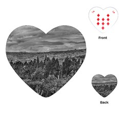 Ecuador Landscape Scene At Andes Range Playing Cards (heart)  by dflcprints