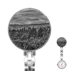 Ecuador Landscape Scene At Andes Range Stainless Steel Nurses Watch by dflcprints