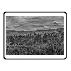 Ecuador Landscape Scene At Andes Range Double Sided Fleece Blanket (small)  by dflcprints