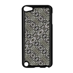 Silver Oriental Ornate  Apple Ipod Touch 5 Case (black) by dflcprints