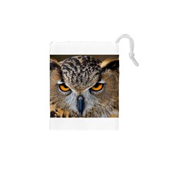 Great Horned Owl 1 Drawstring Pouches (XS)  by jackiepopp
