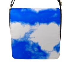 Blue Cloud Flap Messenger Bag (l)  by TRENDYcouture