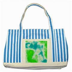 Calming Sky Striped Blue Tote Bag by TRENDYcouture