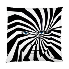 Zebraface Square Cushion Case (two Sided)  by DryInk