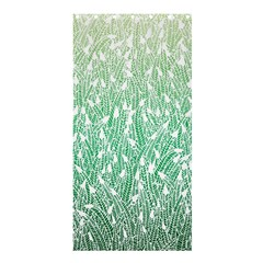 Green Ombre Feather Pattern, White, Shower Curtain 36  X 72  (stall) by Zandiepants